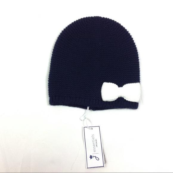 New Jacadi Paris Baby Girl Winter Bonnet Hat O-6 M 055dcde6469